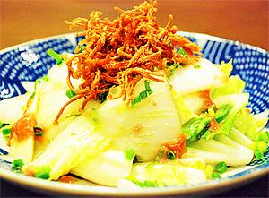 白菜の酒盗サラダ