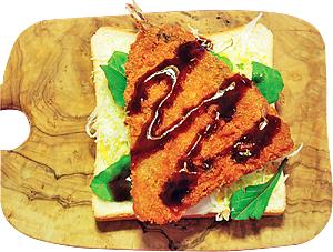 (2)アジフライ(お総菜)サンド