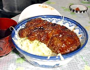 馬肉ソースカツ丼