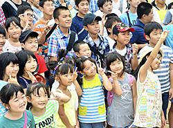 広がる笑顔、弾む声 広野で小中学生の再会・交流事業