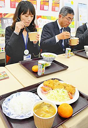 福島県庁食堂で「減塩豚汁」 みそ半分とトマトケチャップ使用