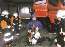 消防士ってすごい! 金山の横田小児童が見学