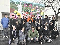 看板アートで観光PR 須賀川高生が2カ月かけ制作