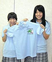 「総文ポロシャツ」完成 福島商高生が製作、販売