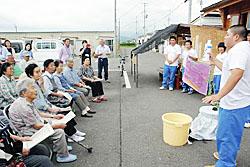 仮設で野菜栽培を紹介 会津農林高生が出前授業