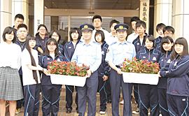 公共施設に生徒が育てた花贈る 相馬農高が5カ所に60個