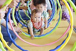 遊びで子育て支援 ふくしまGreenひろば、親子ら楽しむ