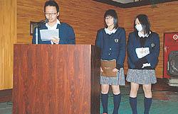 遠野高でNIE活動成果発表会