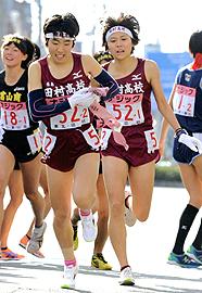 女子・田村、粘りの26位 主将・田辺「来年こそ全国入賞を」