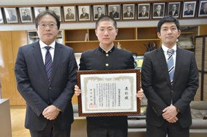 福島県高野連、磐城を表彰 センバツ「21世紀枠」候補推薦校で
