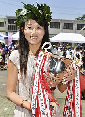 福島民友女子総合は根元が笑顔の「初戴冠」 伊達ももの里マラソン